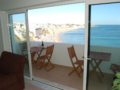 Photo for 10 meters from the beach of Albufeira with panoramic view over the Sea and Coast
