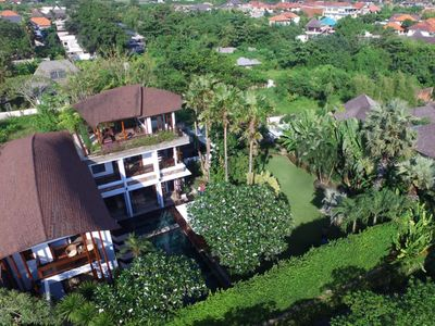 Photo for Modern Balinese Villa with Beautiful Ocean View, Only 50 meters from Beach!