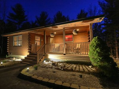 Photo for Picture Perfect Bar Harbor Log Cabin Set Minutes From Downtown.