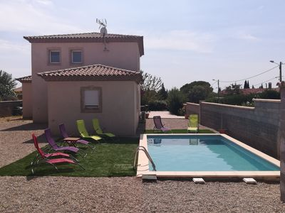 Photo for Architect Villa with swimming pool 20 minutes from the sea !!