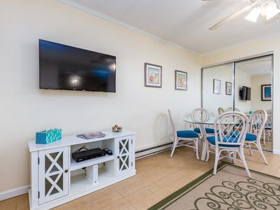 Adorable, highly-amenitized 1-bedroom oceanfront condo with free WiFi, HBO, and an outdoor pool located steps from the beach!