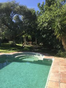 Photo for Stunning private garden and pool, spacious villa set around beautiful courtyard