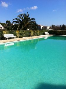 Photo for T2 Apartment with Pool and Garden Secured - Private Parking - Free Wifi