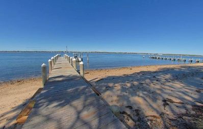 Photo for Tranquil, Beachfront Getaway with Dock, Fabulous Sunset Views!