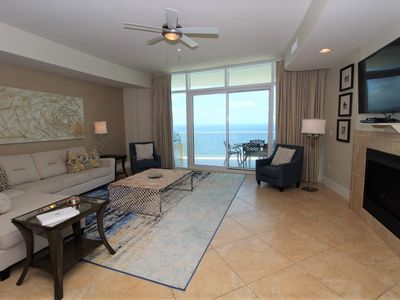 Photo for Turquoise D1703-Beach Front w/Large Terrace & Hot Tub, Saltwater Lazy River!