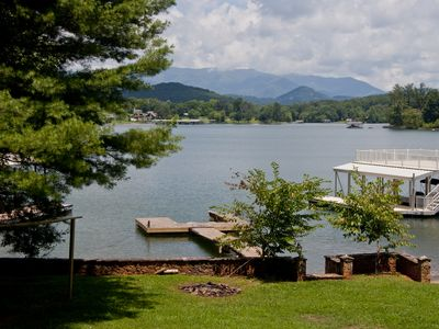 Photo for Lake Chatuge Chillin with boat dock. Mountain Views and more.