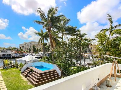 Photo for Sextant's Waterfront Chateau—Pool, Hot Tub, directly on the Miami River