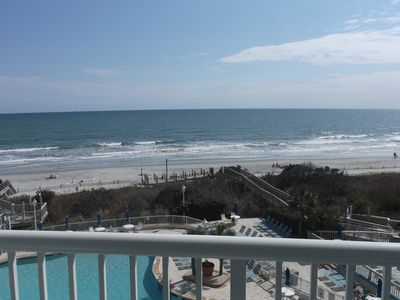 Photo for SeaWatch Ocean Front Upgraded One Bedroom 7 nights May June Weekly Specials