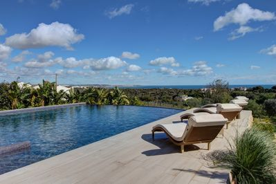 View from the infinity pool & infinity deck.