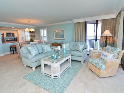 Photo for Water views, private wrap around balcony on 7th floor at Sanibel Harbour Resort