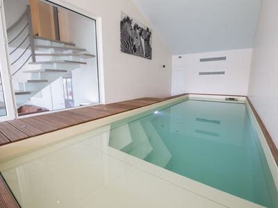 Photo for Villa (penthouse duplex) with indoor pool, private spa and 180° sea view