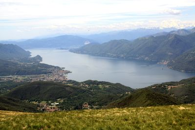 Lake Lugano from Monte Lema