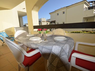 Photo for Lovely apartment with sunny terrace for holiday rent in La Duquesa!