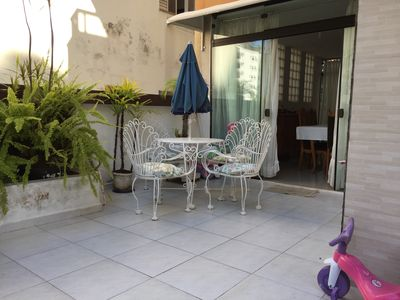Photo for Excellent apartment with spacious outside area, wireless internet