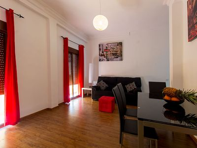 Photo for Bright appartment renovated in the best area of Valencia with wifi, AC