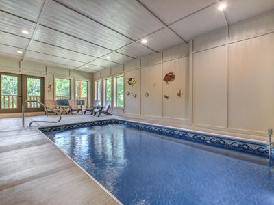 Photo for September 3rd night free!!Pool in Cabin, Theater Room, Arcade Games, Hot tub,Pigeon Forge, Brand New