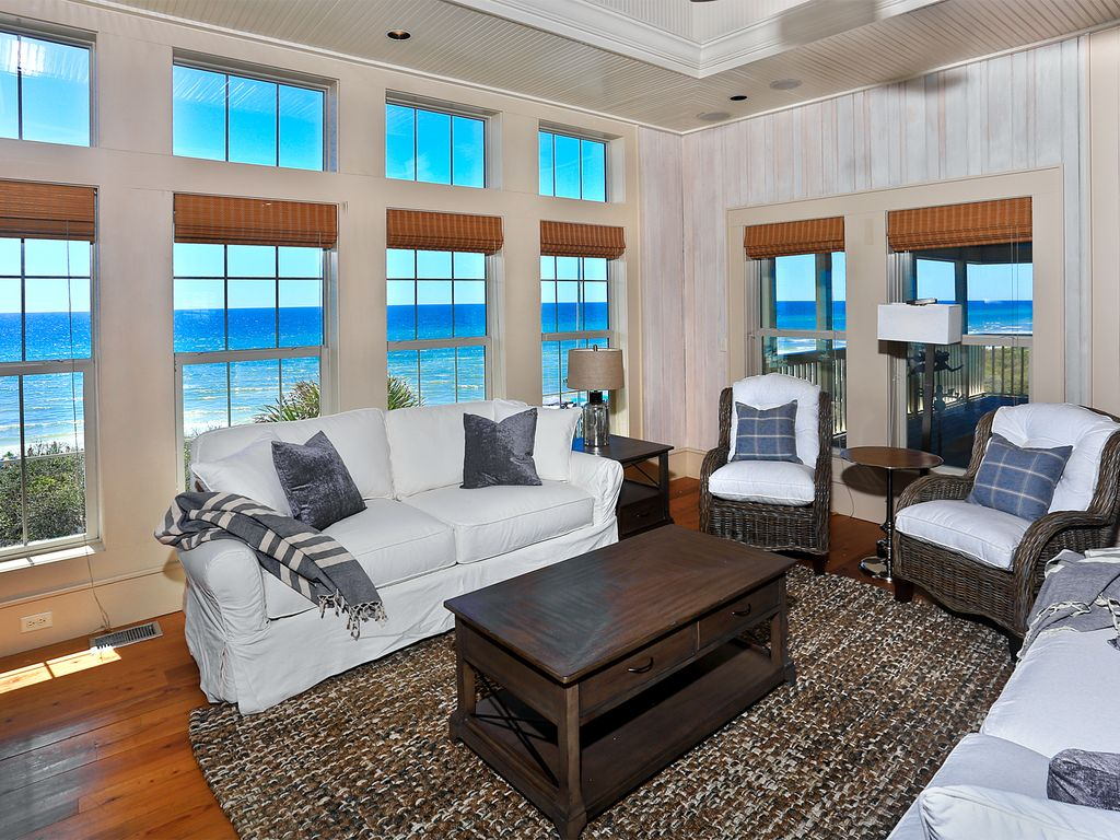 A Wave From It All, Santa Rosa Beach, FL   Living Room With Gulf