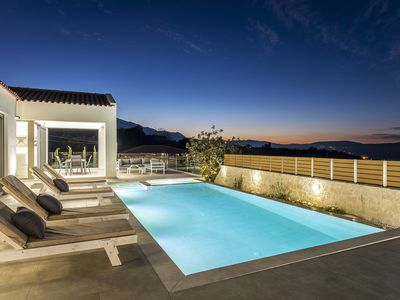 Photo for Private Villa White Harmony with Heated Pool for Holidays in Chania, Crete