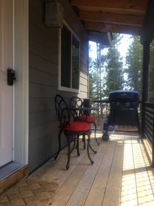 Deck with BBQ and bistro set