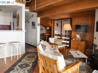 Photo for Very nice 2 bedroom apartment near the telecabine. Living and-dining room with fireplace, TV, DVD an