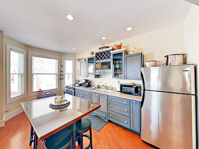 Kitchen - Prepare favorite snacks in the beautifully updated kitchen.