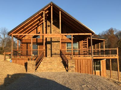 Photo for Beautiful 4800 sq. ft. Luxury log estate, with open floor plan that sleeps 20...
