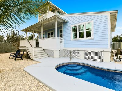 Photo for Key West style waterfront home w/ private pool, modern decor and prime location!