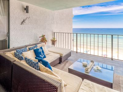 Photo for Gorgeous Gulf-front getaway w/ complimentary beach chairs & umbrella