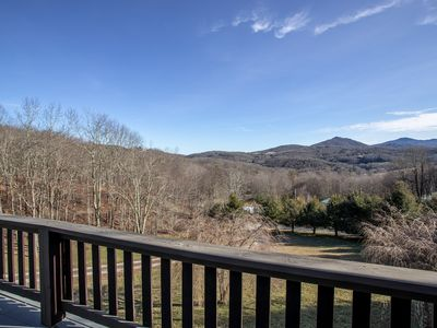 Photo for Charming 4BR Upscale Log Cottage in Banner Elk on 3 Acres, Hot Tub, Fire Pit, Mtn Views