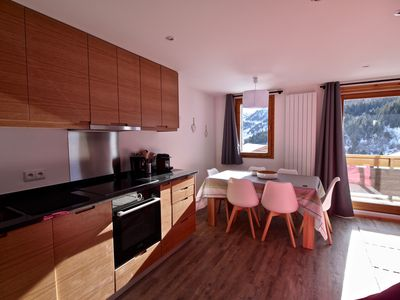 Photo for LUXURY 3 ROOM APT MOTTARET SOUTH VIEW & SKI TO DOOR ACCESS