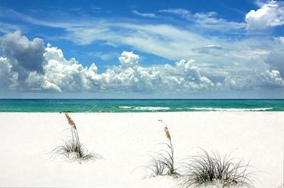 Relax on a Sugar Sand beach with emerald waters