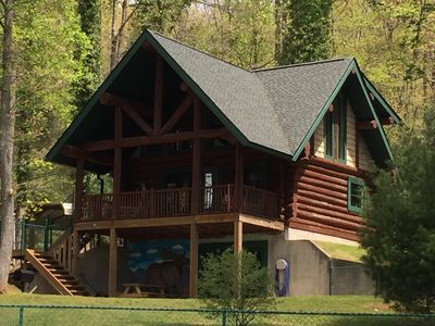 Photo for Lake Side-Log Cabin-Cozy-Quiet-Brevard-Asheville-Hendersonville