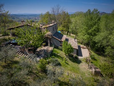 Photo for Renovated  Farmhouse with swimmingpool outside Rome