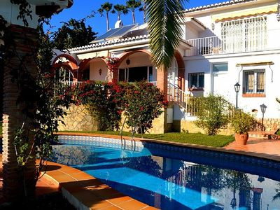 Photo for Stunning 3 bedroom villa situated in the Burriana area of Nerja