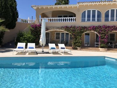 Photo for Fantastic, sunny villa with beautiful sea view and new large swimming pool
