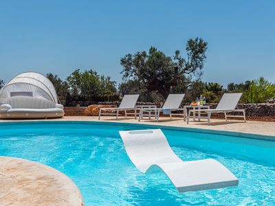 Photo for Beach villa with private pool - surrounded by big green and peaceful garden