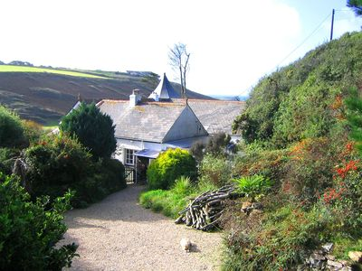 Photo for Dog & Guest friendly! Between Mullion village & beach, Sea & Wooded Valley Views