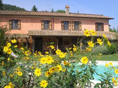 Photo for Stunning farm house plenty of peace, green spaces and with swimmingpool