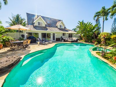Photo for Gorgeous 4 bedroom Princeville pool estate!
