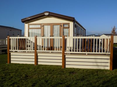 Photo for 3 Bedroom Caravan Central Heated with Hot tub