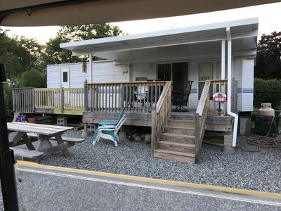 Photo for Trailer Available for Rent! Activities, pools, games, and much more!
