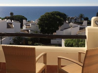 Photo for Splendid apartment. air-conditioned with terrace sea view, swimming pool and secure parking.