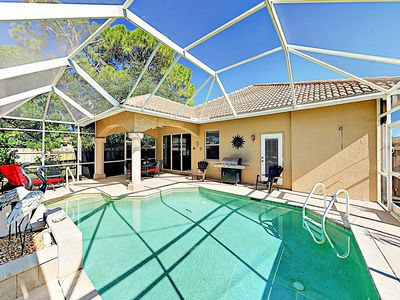 Photo for Casa Tranquilidad: Lanai & Heated Private Pool - Near Beach & State Park