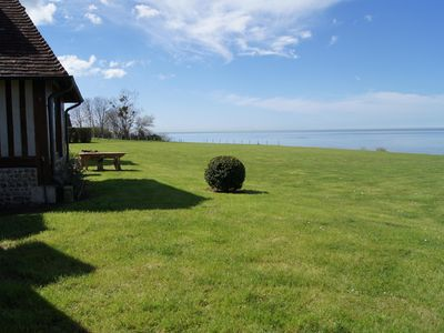 Photo for Luxury villa in Honfleur with private access to the beach and 8000 m² park