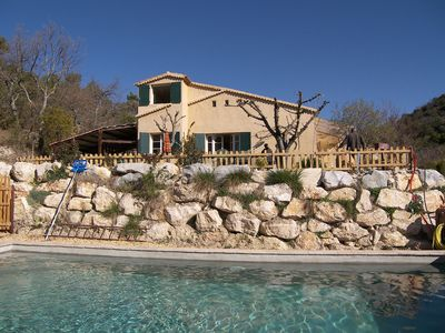 Photo for Authentically furnished, Provencal villa with private pool on large private property.