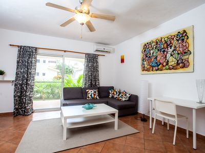 Photo for Apartment in Punta Cana in Bavaro 300 meters from the sea, restaurants and market