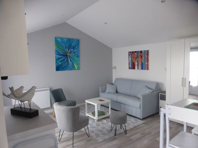 Photo for Les Sables d'Or large studio with sea view terrace