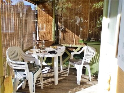 Photo for Pretty Wood Bungalow with terrace, near sea, green area, tranquility