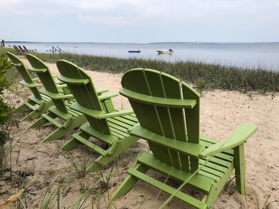 Enjoy your morning coffee on the Great Peconic Bay