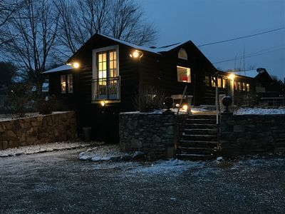 """Photo for Welcome to """"THE CHOCOLATE CABIN""""  Sophisticated living in a rustic log home."""